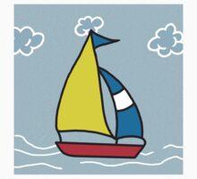 Sail boat Kids Tee
