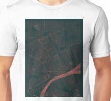 Detroit Map Red Unisex T-Shirt