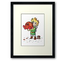 Link and Kirby Halloween Framed Print