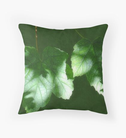 Leaves in Shadow Throw Pillow