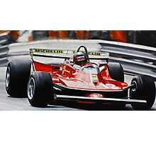 Gilles Villeneuve, Ferrari 312T4 Photographic Print