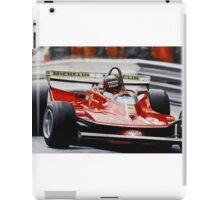 Gilles Villeneuve, Ferrari 312T4 iPad Case/Skin