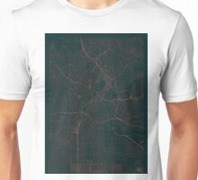 Los Angeles Map Red Unisex T-Shirt