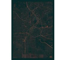 Los Angeles Map Red Photographic Print