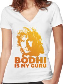 Bodhi Is My Guru Women's Fitted V-Neck T-Shirt