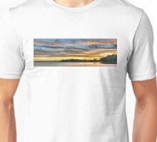 Nautical Golden Glow Cloud Sunset. Photo Art, Prints, Gifts. Unisex T-Shirt