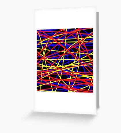 Primary Chaos Greeting Card