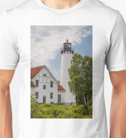 Point Iroquois Lighthouse - Michigan Unisex T-Shirt