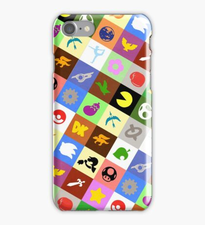 Smash Brothers Emblems iPhone Case/Skin