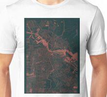 Amsterdam Map Red Unisex T-Shirt