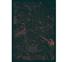 Berlin Map Red Photographic Print