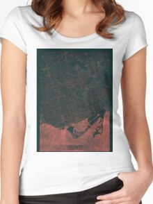 Toronto Map Red Women's Fitted Scoop T-Shirt