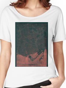 Toronto Map Red Women's Relaxed Fit T-Shirt