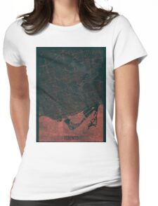 Toronto Map Red Womens Fitted T-Shirt