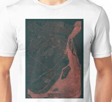 Montreal Map Red Unisex T-Shirt