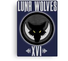 Luna Wolves XVI - Warhammer Canvas Print