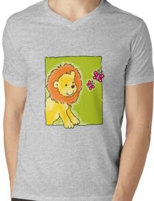 Sweet Lion Mens V-Neck T-Shirt