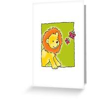 Sweet Lion Greeting Card