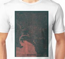 Melbourne Map Red Unisex T-Shirt