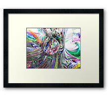Frozen Rainbows Abstract Framed Print