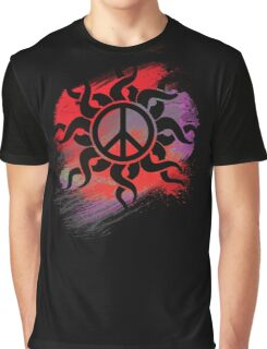 Cool Peace Sign with Paint Graphic T-Shirt