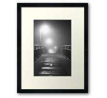 Bridge on a Foggy Night Framed Print