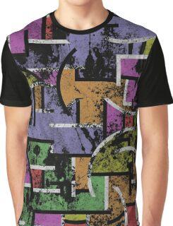 Textured Segregation Graphic T-Shirt