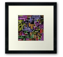 Textured Segregation Framed Print