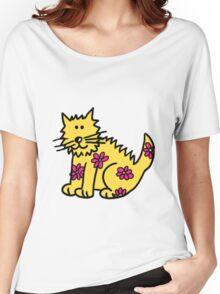 Yellow Wild Cat Women's Relaxed Fit T-Shirt