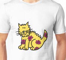 Yellow Wild Cat Unisex T-Shirt