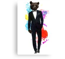 Business Bear - Earning The Money Canvas Print