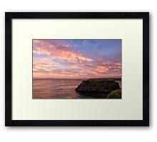 Donegal Skies Alight Framed Print