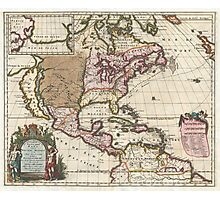 Vintage Map of The Americas (1698)  Photographic Print