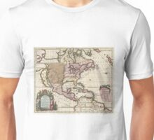 Vintage Map of The Americas (1698)  Unisex T-Shirt