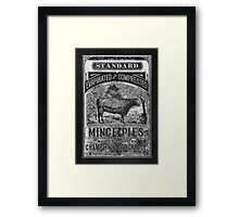 Mince Pies Cow Framed Print