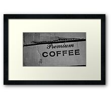 Premium Coffee Framed Print