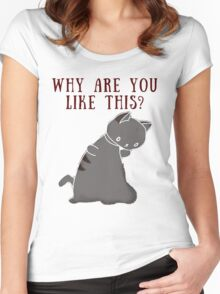 Existential Crisis Cat Women's Fitted Scoop T-Shirt