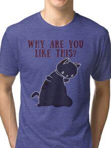 Existential Crisis Cat Tri-blend T-Shirt