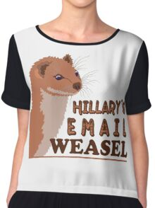 Hillary's Email Weasel FBI Director Parody Chiffon Top