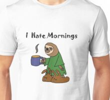 Funny I Hate Mornings Sloth Cartoon Unisex T-Shirt