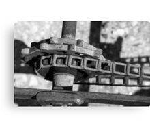 John Deere Tractor Parts BW Canvas Print