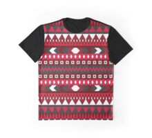 RED AZTEC PATTERN Graphic T-Shirt