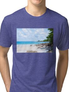 Beautiful tropical beach Tri-blend T-Shirt