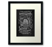 Lion Coffee Framed Print