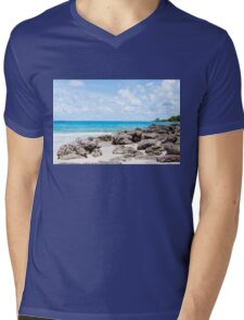 Beautiful tropical beach Mens V-Neck T-Shirt