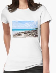 Beautiful tropical beach Womens Fitted T-Shirt