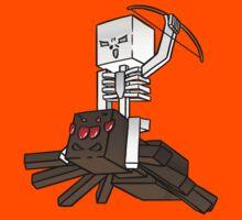 Minecraft Spider Jockey by InkDudeDesigns (YanaiTheFIRST)