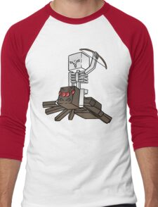 Minecraft Spider Jockey Men's Baseball ¾ T-Shirt