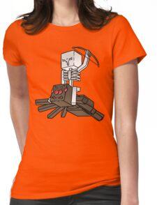 Minecraft Spider Jockey Womens Fitted T-Shirt
