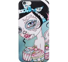 Cupcake Cutie - Day of the Dead Rockabilly Sweet Girl iPhone Case/Skin